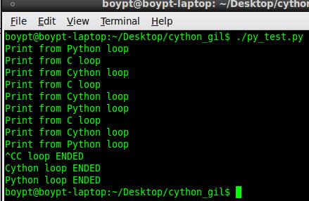 Python, C-Python, Cython代码与GIL的交互