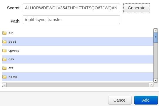 在Linux上安装配置BitTorrent Sync