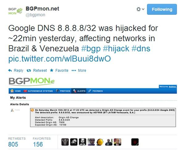 Google DNS劫持背后的技术分析