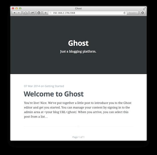 在 Ubuntu 上搭建 Ghost 博客平台