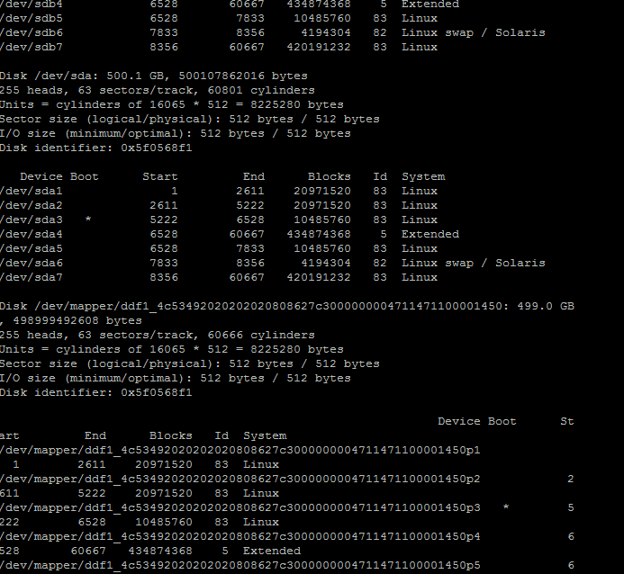 linux 分区错误