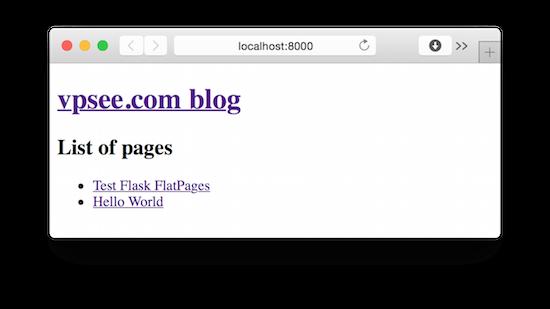 使用 Flask 搭建静态博客