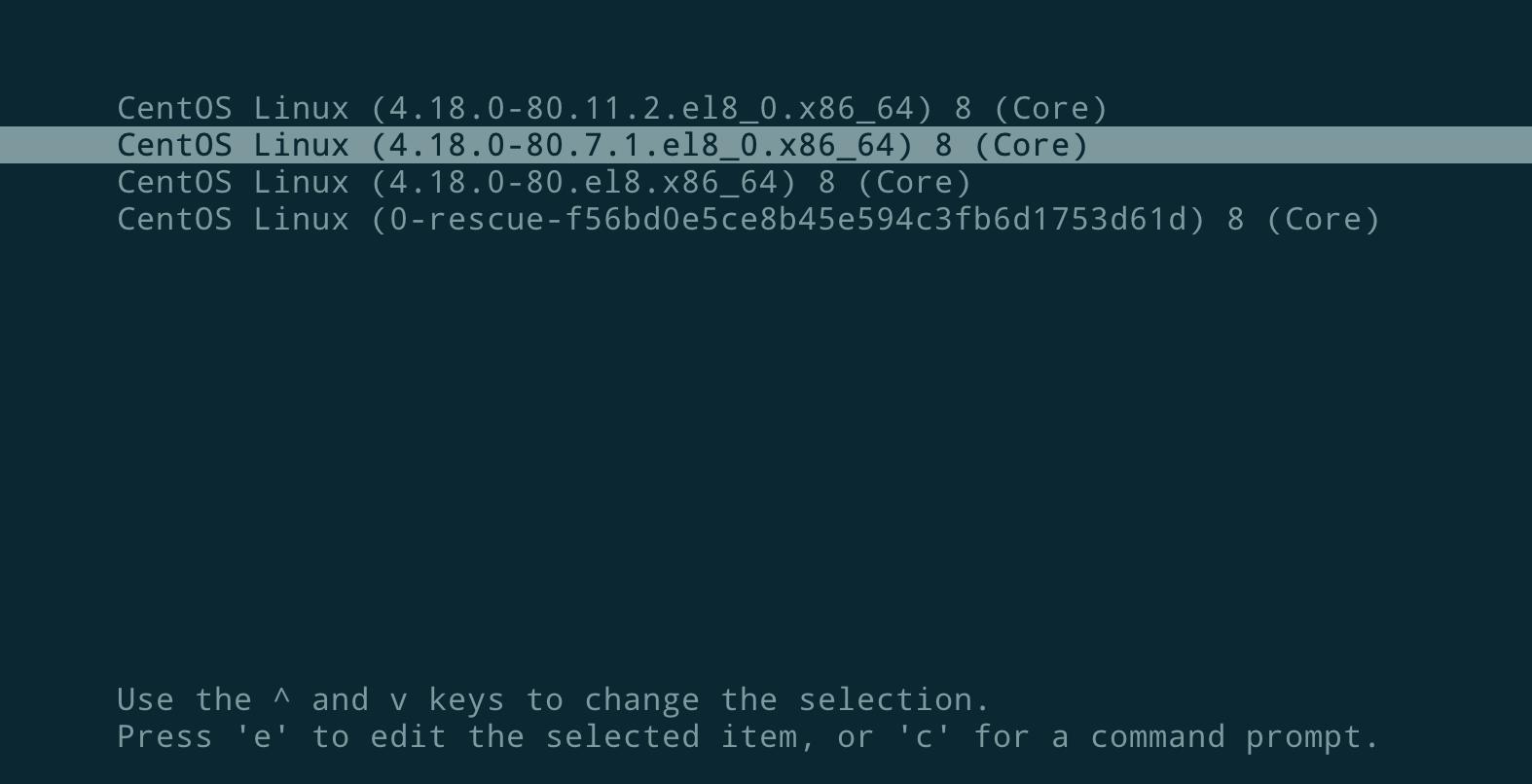 CentOS 8.x 和 RHEL 8.x 更改默认启动项
